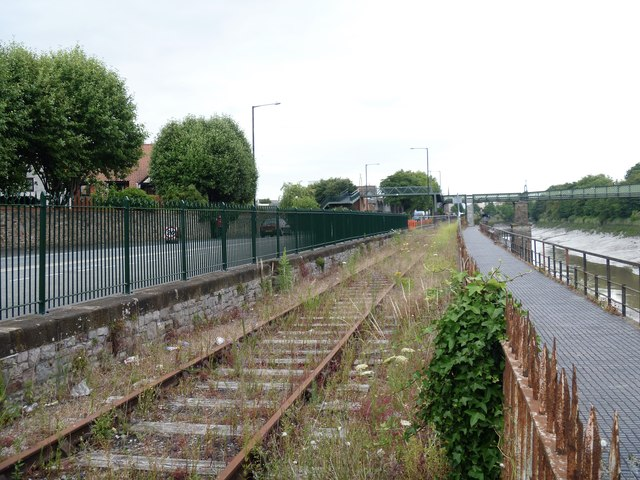 Road, railway, cycleway/path and river