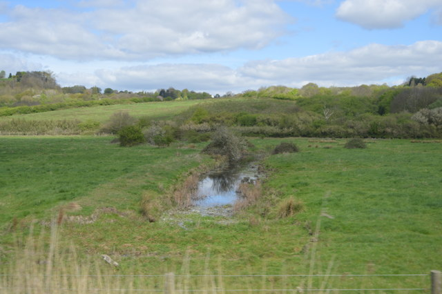 Drainage ditch, Hadleigh Country Park