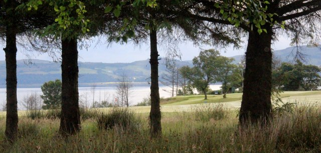 Innellan Golf Course above the Firth of Clyde