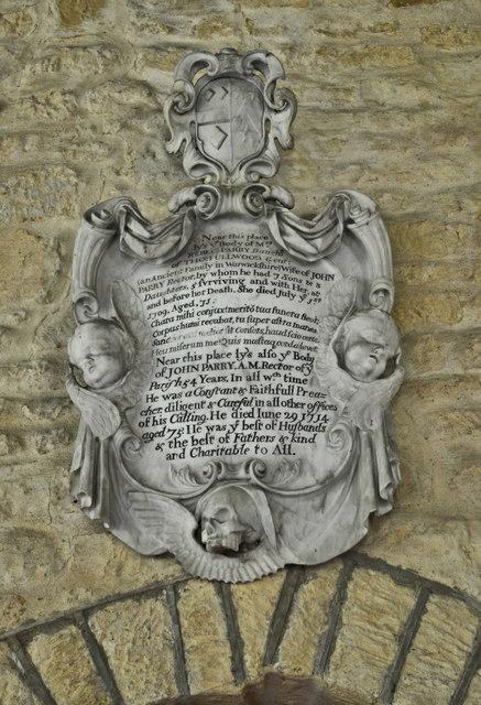 Mr & Mrs Parry memorial, Aston Somerville