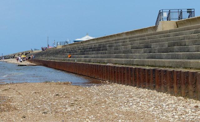 Sea defences at Hunstanton