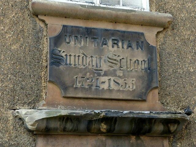 Former Unitarian Sunday School, datestone