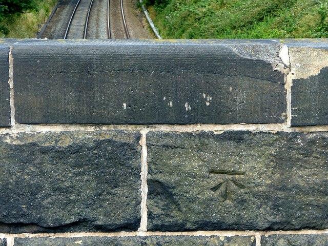 Bench mark, Long Row railway bridge, Belper