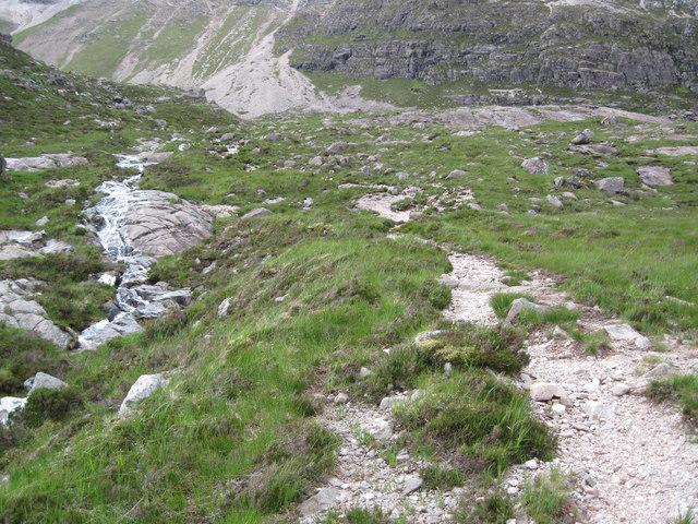 Path beside Allt Coire an Laoigh