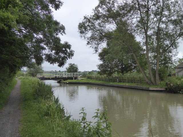 Swing bridge at Seend Park Farm