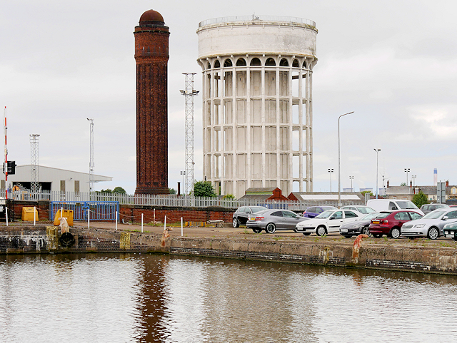 """Salt and Pepper"" Water Towers, Goole"