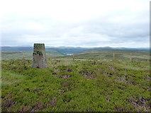 SH9319 : Mynydd Coch trig by Richard Law