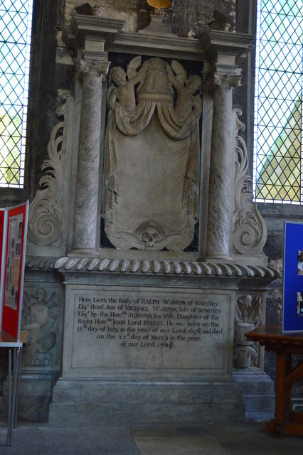 Church of St Mary - tomb of Ralph Warton