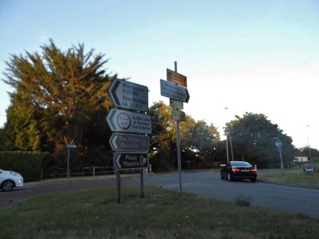 Roundabout on Southampton Road, Romsey