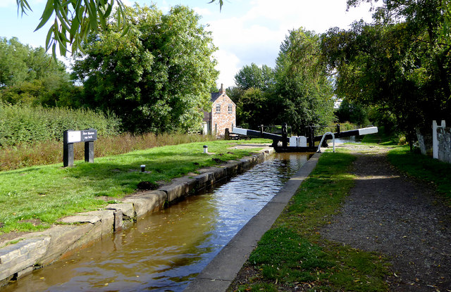 New Marton Top Lock in Shropshire