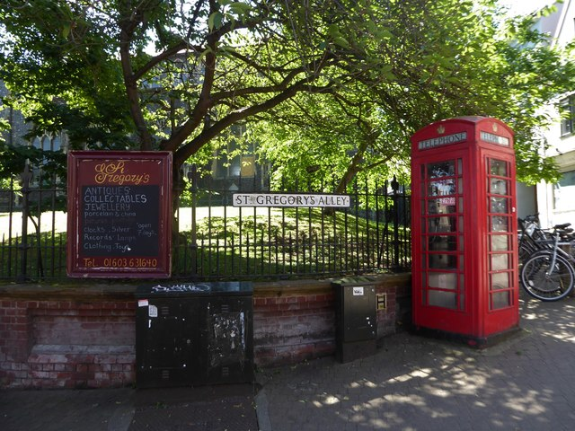 Phone box in St Gregory's Alley