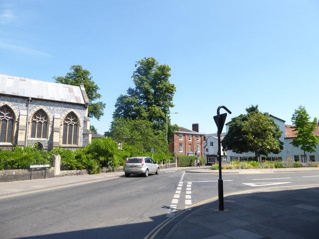 Passing St Giles Church