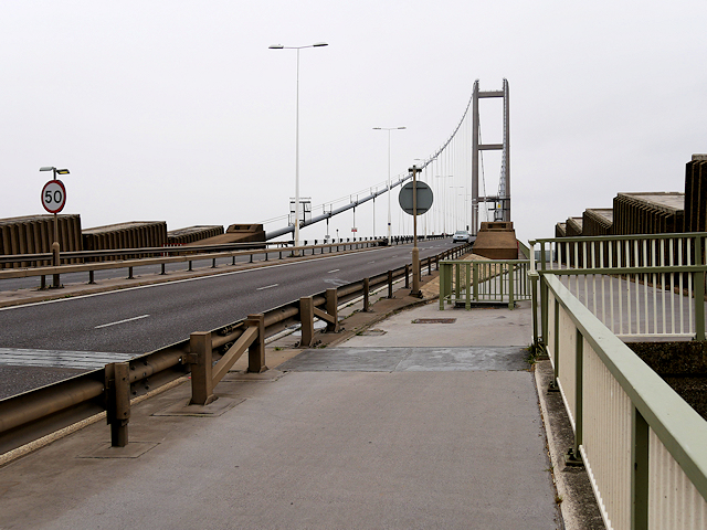 The Southern End of the Humber Bridge