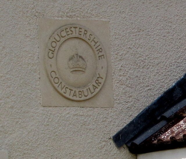 Gloucestershire Constabulary roundel on the former Iron Acton police station