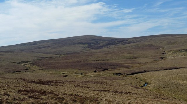 Junction of burns below Cnoc na Maoile, Caithness