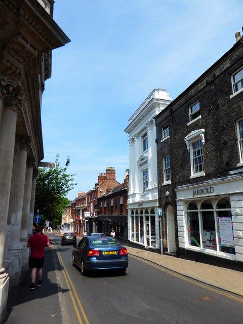 Looking northwards up Exchange Street