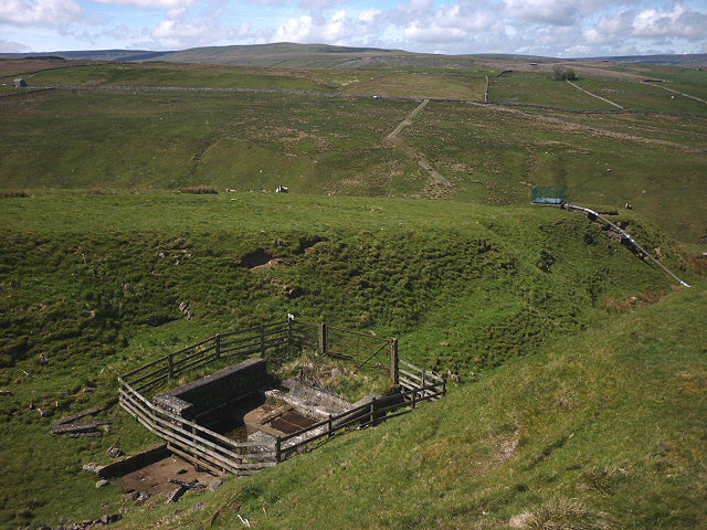 Air shaft above Ireshope Burn