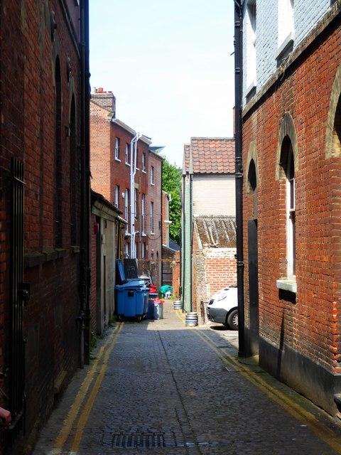 Delightful alley off Lobster Lane