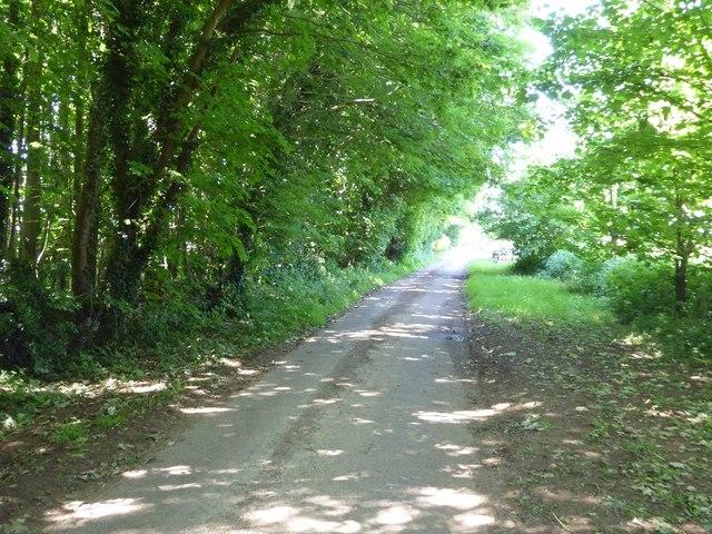 No through road near Eastleach Downs Farm