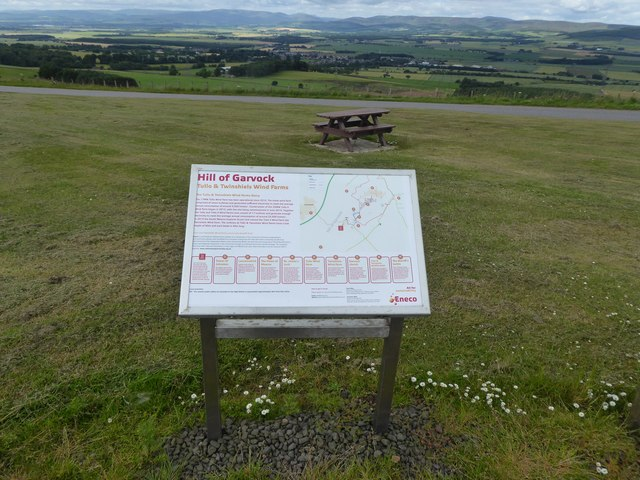 Hill of Garvock information board