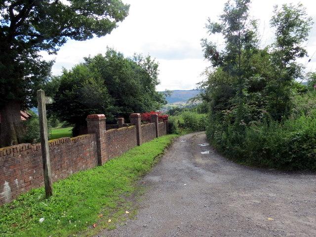 Llwybr yn Nhre-Gibbon / Path in Tre-Gibbon