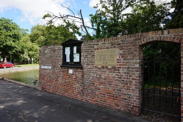 Bishop Burton First World War Memorial Plaque