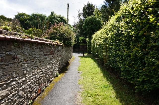 Path leading to Church Lane, Bishop Burton