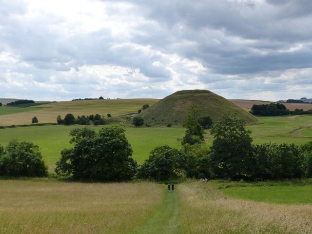 Silbury Hill seen from Waden Hill