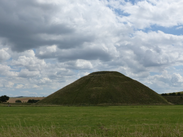 Silbury Hill viewed from a footpath