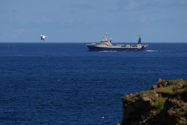 MV Atlantic Star passing Lamba Ness