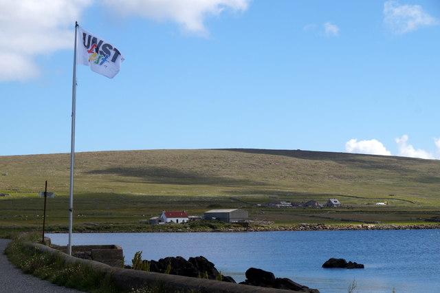 Unstfest flag at Haroldswick