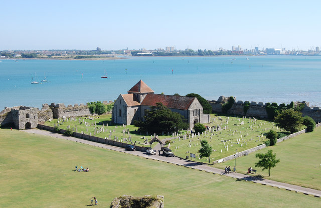 The view south east from Portchester Castle (1)