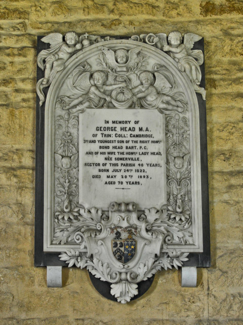 Memorial to George Head M.A., Aston Somerville