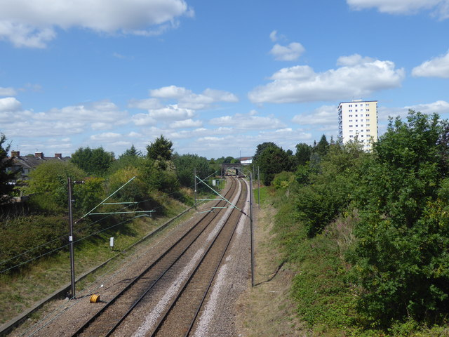 View of the railway from Brick Lane bridge