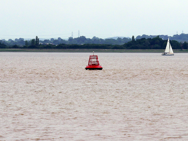 Red (Port) Buoy in the Humber Estuary