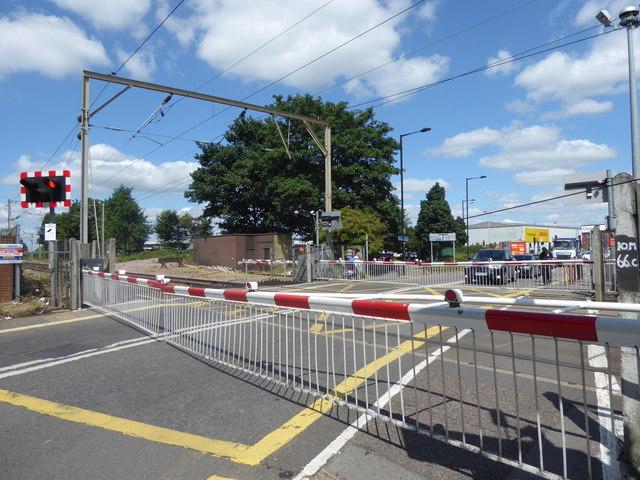 Green Street level crossing alongside Brimsdown station