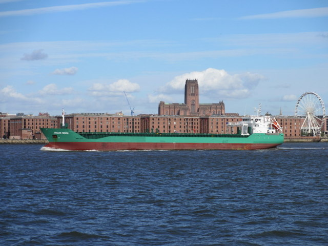 """""""Arklow Brook"""" passing the Albert Dock"""