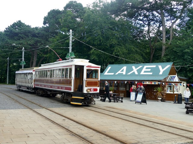 Manx Electric Railway Car 6 at Laxey station