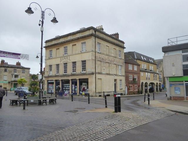Handel House, Devizes, now a bookshop