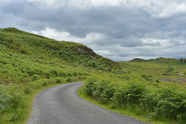The Rhue road alongside Saideil Torr a' Bheithe