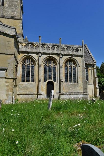 Stanton Harcourt, St. Michael's Church: Perpendicular Harcourt chapel