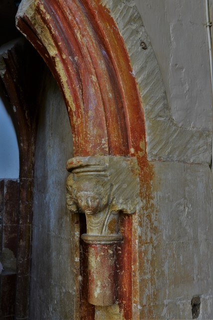 Stanton Harcourt, St. Michael's Church: Chancel paint scheme remnants