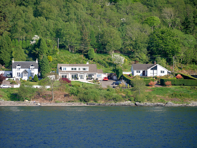 Lochside Houses South of Fort William