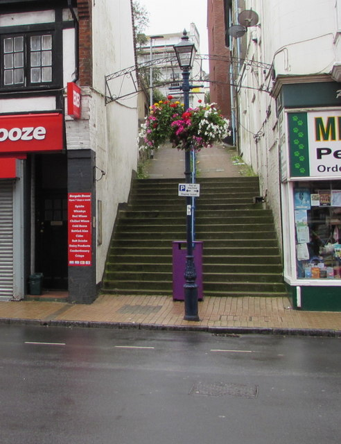 Steps up from High Street Ilfracombe