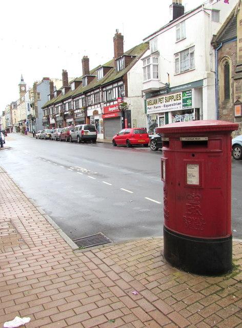 Twin aperture pillarbox, High Street, Ilfracombe