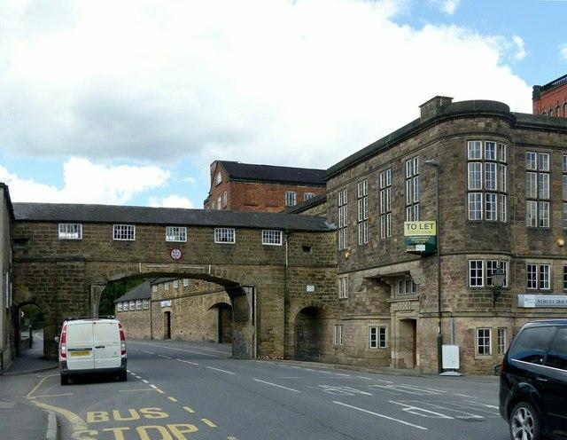 Bridge and offices, Belper mills