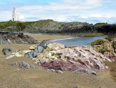 SH3862 : The rock 'melange' at Porth Twr Bach by Gordon Hatton