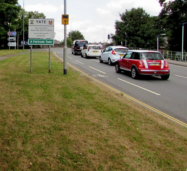 A432 enters Yate