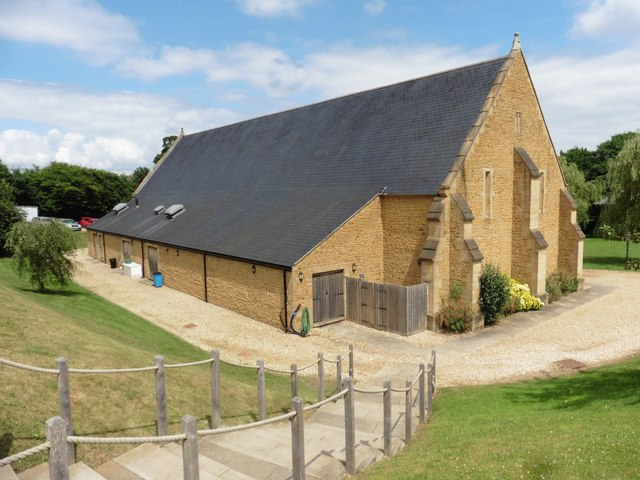 Restored Tithe Barn, Haselbury Mill