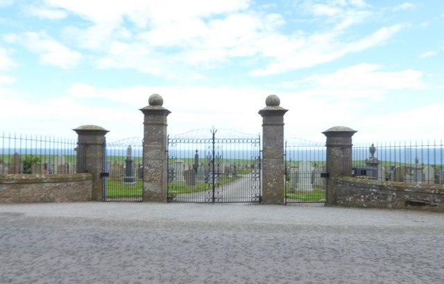 Gates to Gourdon Cemetery